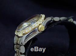 Rolex Datejust - Montre En Acier 14k Pour Femme, En Acier Inoxydable 14 Tons - Cadran Et Lunette Sertis De Diamants Blancs