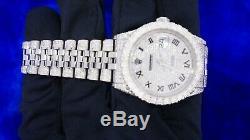 Rolex Datejust - Montre En Acier 36 MM Pour Homme - Diamants De 11 Carats Glacés - Meilleure Offre