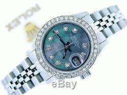 Rolex Datejust - Montre En Acier Inoxydable Pour Femme - Nacre Noire Avec Diamants
