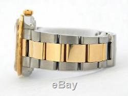 Rolex Datejust Montre En Or Jaune 18 Carats Et Acier 2tone Pour Homme Blanc Avec Diamants 16013