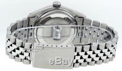 Rolex Datejust S / Acier Et Or Blanc 18 Carats Noir Chaîne Diamond Dial