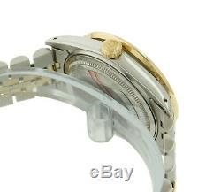 Rolex Montre Homme Datejust 16013 Or 18k Or 36k Cadran Saphir Lunette Sertie De Diamants