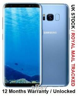Samsung Galaxy S8 64go Noir / Gris / Bleu / Rose Uk Version Unlocked