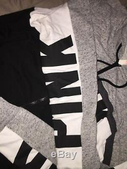 Secret Rose Full Zip Sweat & Skinny Jogger Set Taille L Outfit De Victoria Nwt