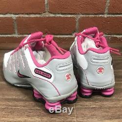 Tennis 6.5 Y / 8 Wmns Chaussures D'entraînement De Running Nike Shox Nz Gs, Blanc, Vivid, Rose, Noir