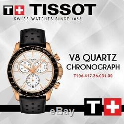 Tissot T1064173603100 Rose-or T-sport V8 Chronographe Montre Homme Quartz