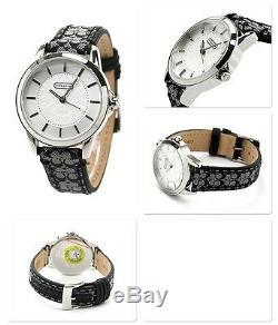 Tn-o Coach Montre Femme Acier Inoxydable Noir Classique De Logo Signature Bracelet $ 14501524 195