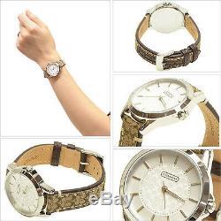 Tn-o Coach Montre Femme Inoxydable Brown Classique Logo Signature Bracelet $ 14501525 195
