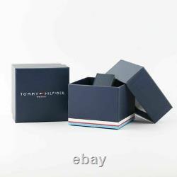 Tommy Hilfiger Decker Bracelet En Caoutchouc Bleu Homme Designer Chronographe Montre 1791350