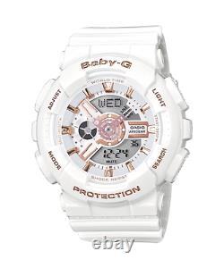 Tout Nouveau Casio G-shock Baby-g Ba110-lb White Gold Digital Watch Pdsf 120,00 $