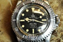 Tudor Submariner Oyster Prince Vintage Modèle 7928 Bague Dorée Et Insert Tropical