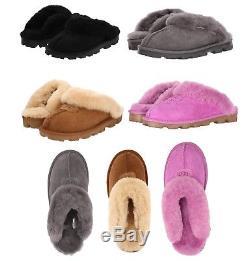 Ugg Chaussures Femme Coquette Doux Pantoufles Cozy Sandales Noir Châtaigne Gris Rose