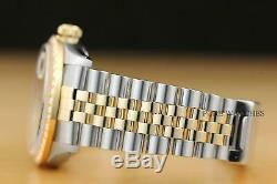 Véritable Rolex Datejust 2 Tons 18k Or Jaune Montre Quickset