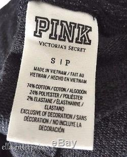 Victoria's Secret Pantalon Collegiate Skinny Bling Rose Noir Gris Marl Argent S