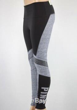 Victorias Secret - Legging Taille Haute Gris Et Noir Ultime - Rose Pâle Xxs32