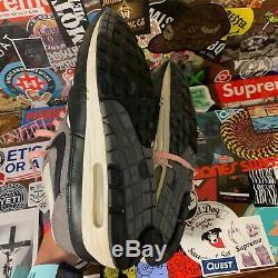 Vintage 2003 Nike Air Max 1 Leather'graphite ' Gris / Noir / Blanc / Rose Taille De Men