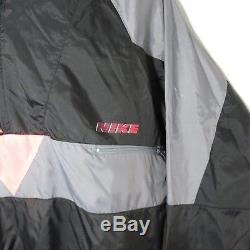 Vintage Coupe-vent Gris Des Années 1980 Nike M Jordan Era Black Neon Pink Tag Gris