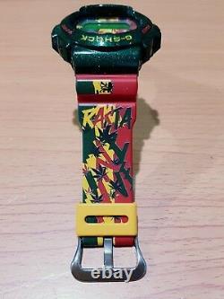 Vintage G-shock Dw-6900 Rastafari Reggae Hip-hop Bob Marley Vert Métallisé