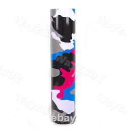 Way2buy Pink Blue White Black Gray Gloss Camouflage Vinyl Wrap Autocollant Automatique