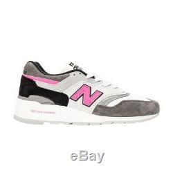 Withbox New Balance Made In USA Gris Noir Rose M997lbk Daim Sneaker 9.5 Hommes