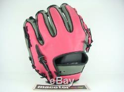 Zett Gants De Baseball / Softball Ordre Spécial Couronne 12 Gris Rose Noir Rht Pro